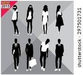 set of men and women black... | Shutterstock .eps vector #297501731