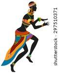 african woman dancing ritual... | Shutterstock .eps vector #297510371
