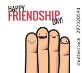 colorful friendship ... | Shutterstock .eps vector #297520541