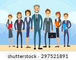 business people group diverse... | Shutterstock .eps vector #297521891