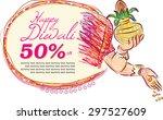 hindu mythological goddess... | Shutterstock .eps vector #297527609