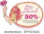 hindu mythological goddess... | Shutterstock .eps vector #297527621