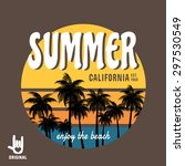 summer. california surf... | Shutterstock .eps vector #297530549
