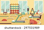 flat colorful gym. | Shutterstock .eps vector #297531989