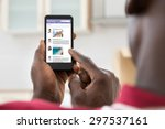 close up of african young man... | Shutterstock . vector #297537161