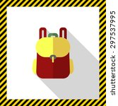 backpack icon | Shutterstock .eps vector #297537995