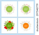 set of vector label cards with... | Shutterstock .eps vector #297540779