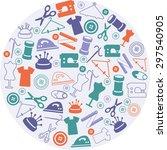sewing symbols | Shutterstock .eps vector #297540905