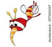 cartoon illustration of a red... | Shutterstock .eps vector #297542447