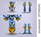 set of knight's armor. vector...
