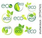 ecology  logo symbol set vector | Shutterstock .eps vector #297547631