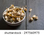dried chamomile flowers  herbal ... | Shutterstock . vector #297560975