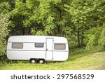 Old Camping Trailer Standing I...