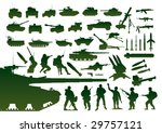 green military silhouettes....