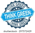 think green blue round grunge... | Shutterstock .eps vector #297572429