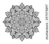 hand drawing zentangle element. ...   Shutterstock .eps vector #297575897
