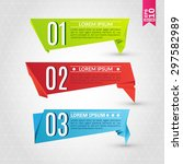 set of origami labels for your... | Shutterstock .eps vector #297582989
