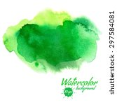 vector green abstract hand... | Shutterstock .eps vector #297584081
