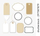 set of various blank paper tags ...