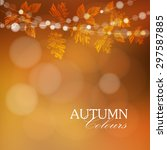 autumn  fall background with... | Shutterstock .eps vector #297587885