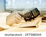 business accounting  | Shutterstock . vector #297588344
