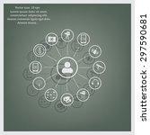 technology web icons set   Shutterstock .eps vector #297590681