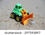 Bulldozer Toy On The Beach....