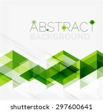 abstract geometric background.... | Shutterstock .eps vector #297600641