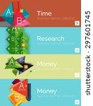 infographic flat design banner... | Shutterstock .eps vector #297601745