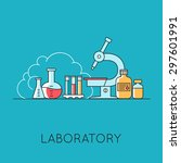 medicine background with the... | Shutterstock .eps vector #297601991
