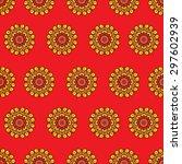 bright red vector seamless... | Shutterstock .eps vector #297602939
