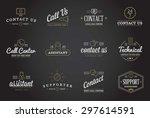 set of contact us service... | Shutterstock .eps vector #297614591