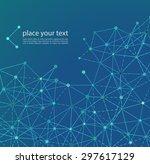 vector illustration molecule... | Shutterstock .eps vector #297617129