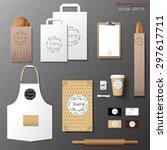 vector bakery corporate... | Shutterstock .eps vector #297617711
