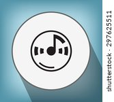 pictograph of music note   Shutterstock .eps vector #297625511