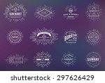 sunburst on starburst element... | Shutterstock .eps vector #297626429