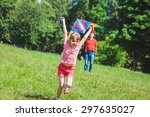 the girl and her father play... | Shutterstock . vector #297635027