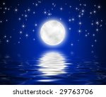 image of the moon and stars and ... | Shutterstock . vector #29763706