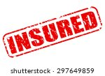 insured red stamp text on white | Shutterstock .eps vector #297649859