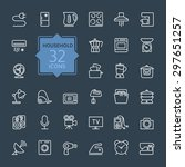 outline icon collection  ... | Shutterstock .eps vector #297651257
