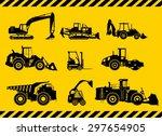 silhouette illustration of... | Shutterstock .eps vector #297654905