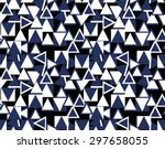 geometric triangle seamless... | Shutterstock .eps vector #297658055