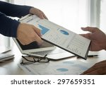 financial analysts provide... | Shutterstock . vector #297659351