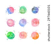 watercolor sale shopping and... | Shutterstock .eps vector #297660101