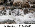 Waterfall In A Rocky Stream