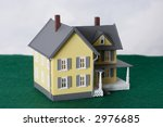 two story yellow house on green ... | Shutterstock . vector #2976685