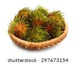 Small photo of rambutan on the background. rambutan on the background.
