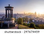 edinburgh city in winter from... | Shutterstock . vector #297674459