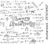 theory of relativity and... | Shutterstock .eps vector #297676907