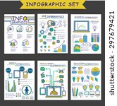set of different infographic...